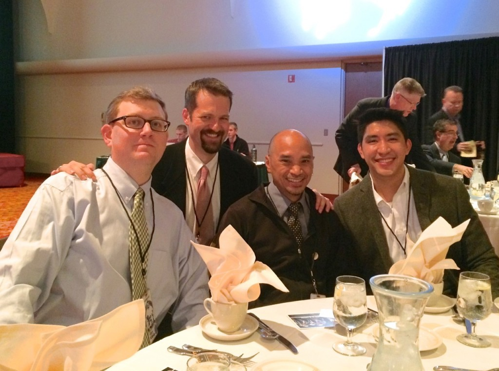 Tom, Mac, JT & Garrick together at the Madison Scouts' 75th Anniversary Celebration.