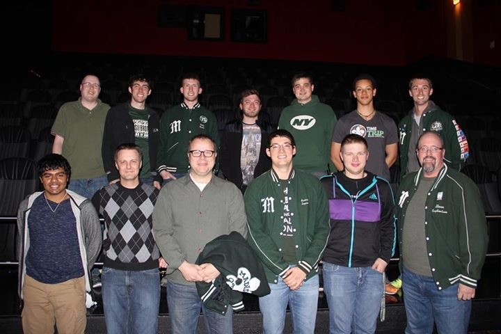 Madison Scouts alumni at the Mason, OH screening on March 30, 2015